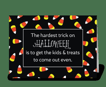 Halloween Candy Corn Humor greeting card