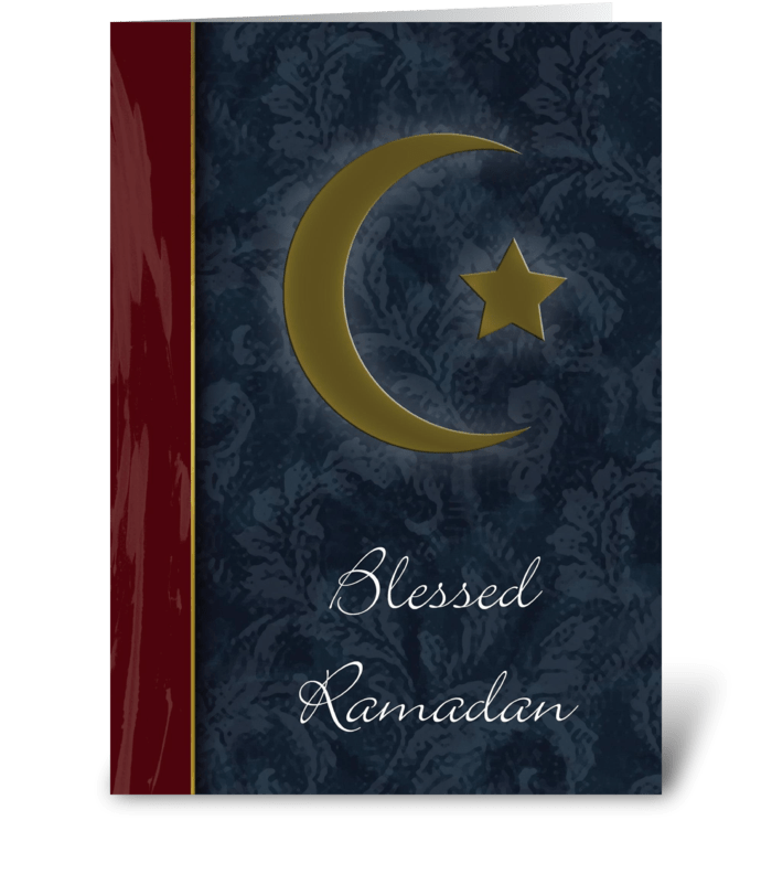 Blessed Ramadan Greeting Card greeting card