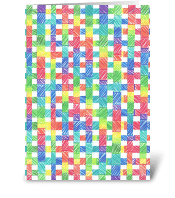 BASKET WEAVE RAINBOW greeting card