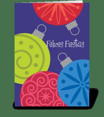 Seasons Greetings (Spanish) greeting card