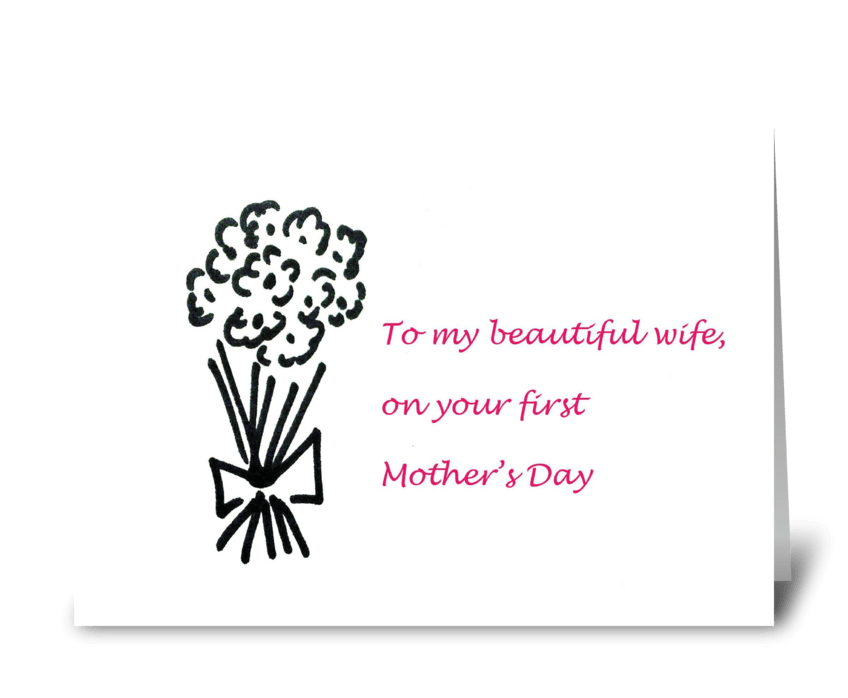 1st Mother's day! greeting card