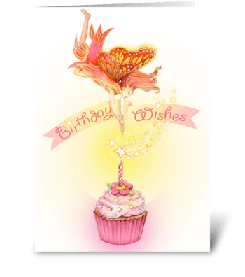 Fairy cake greeting card