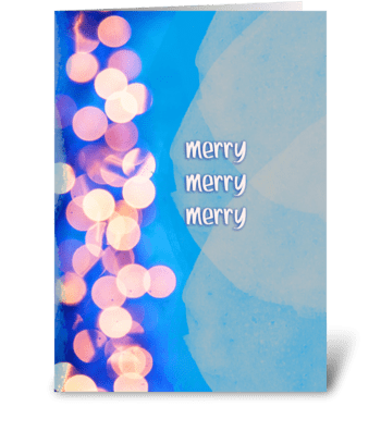 Merry Merry Merry greeting card