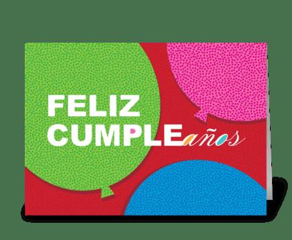 Happy Birthday (Spanish) greeting card