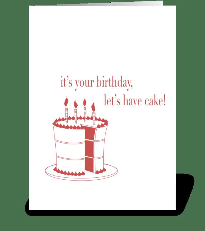 Let's Eat Cake! greeting card