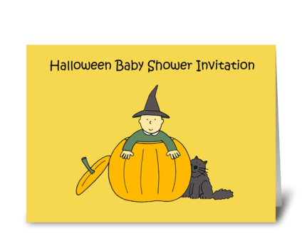 Halloween Baby Shower Invitation. greeting card