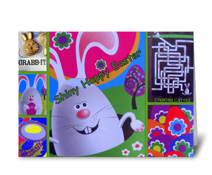 Easter cards page 2 card gnome shiny happy easter greeting card m4hsunfo Images