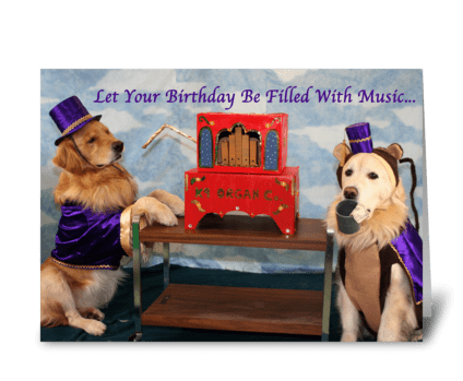 Grinding Out Birthday Wishes greeting card