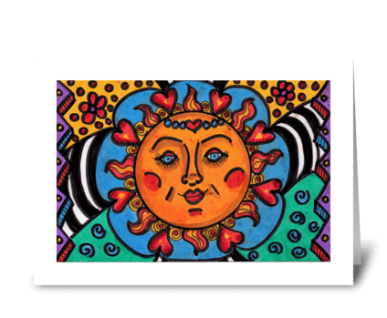 Sunshine Love greeting card
