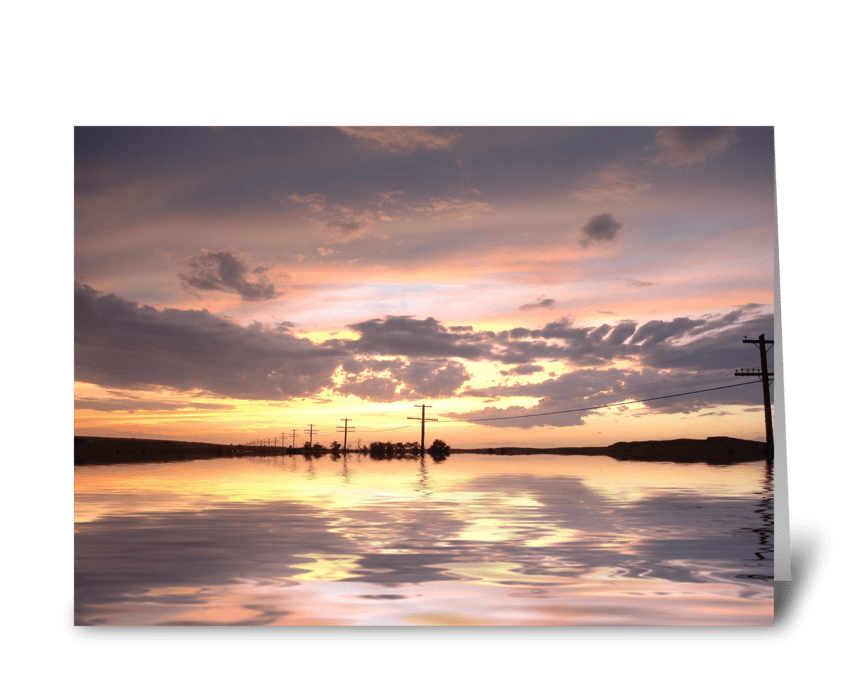 Sunset After The Storm greeting card