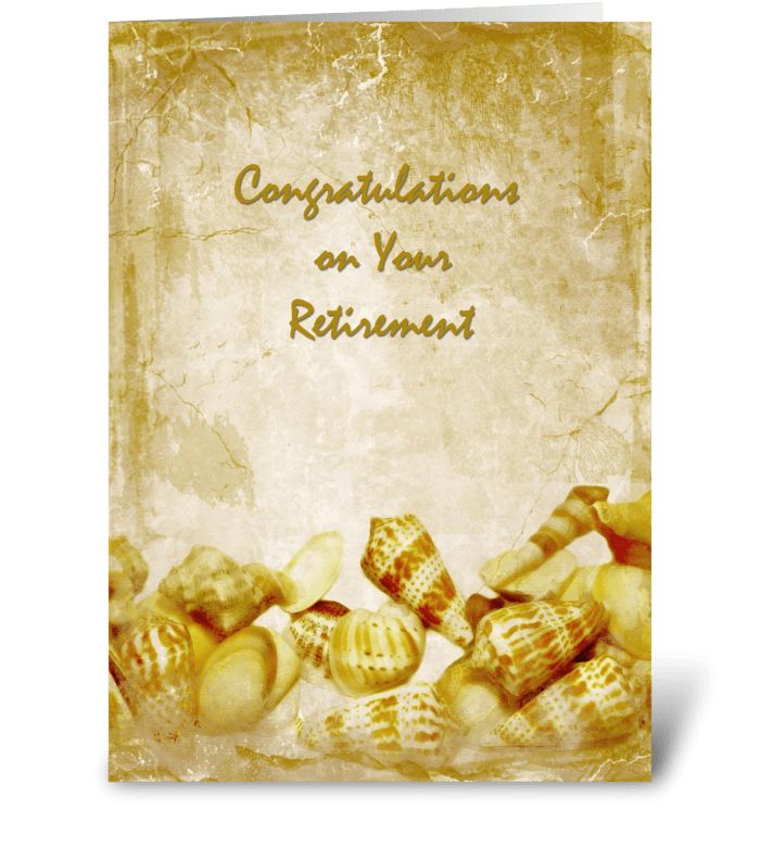 Antique Sea Shells Retirement greeting card