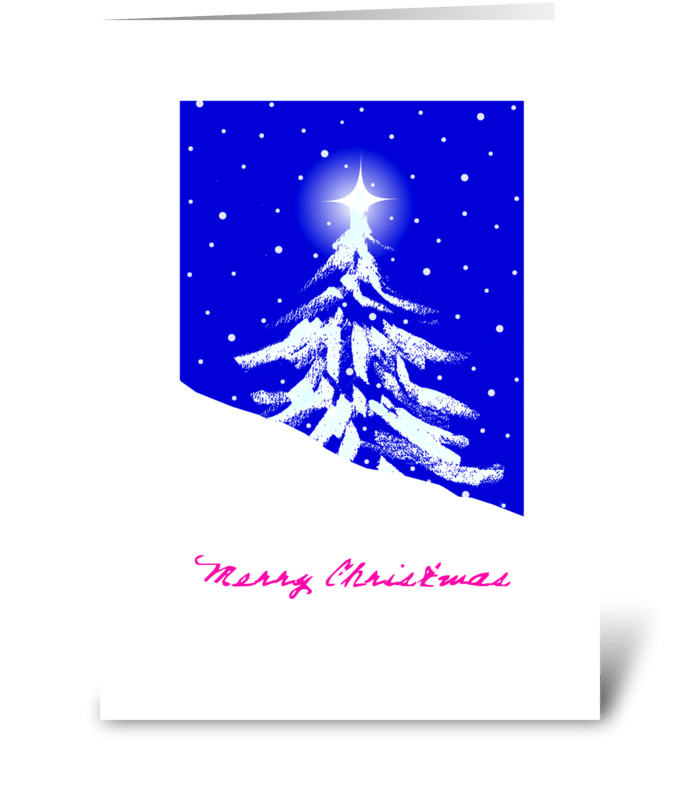Lil Christmas Tree greeting card