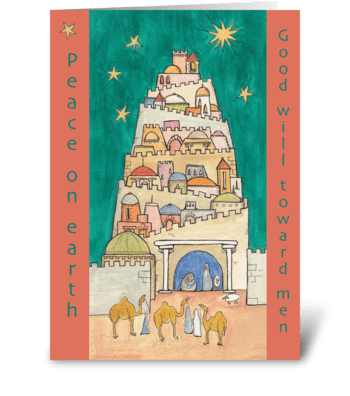 peace on earth good will toward men greeting card
