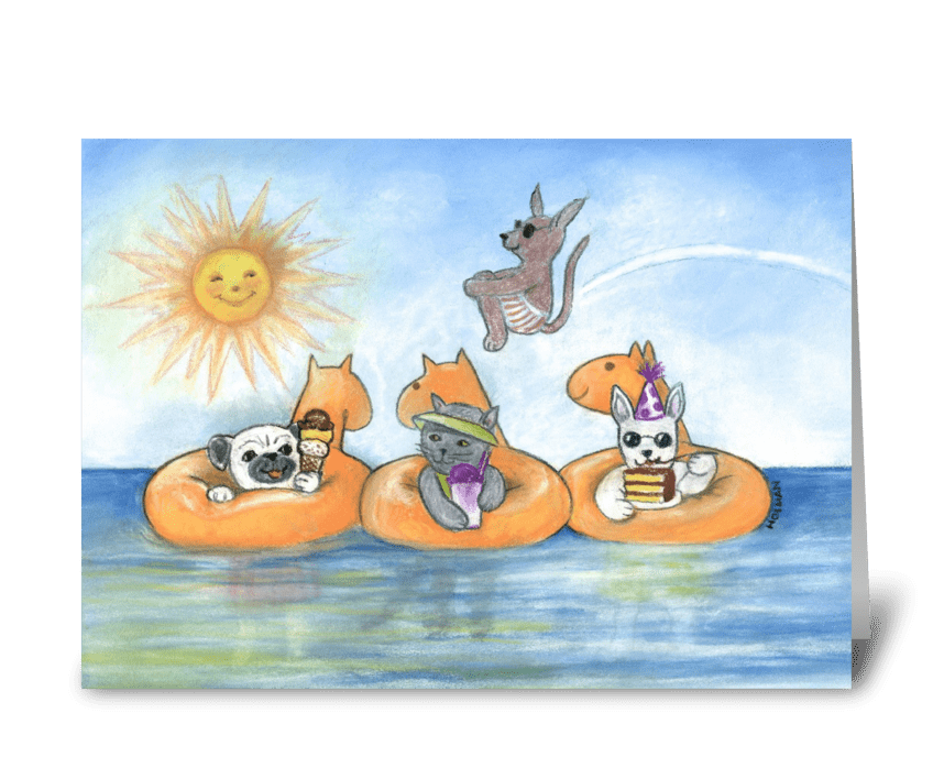 Happy Birthday Animals Cats & Dogs greeting card