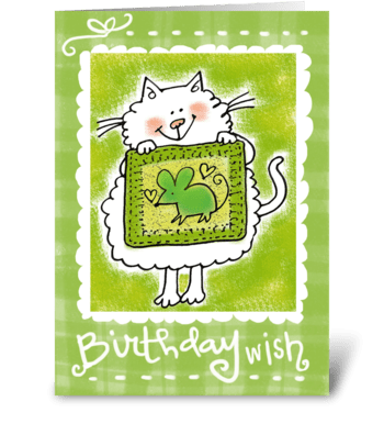 Birthday Wish For You greeting card