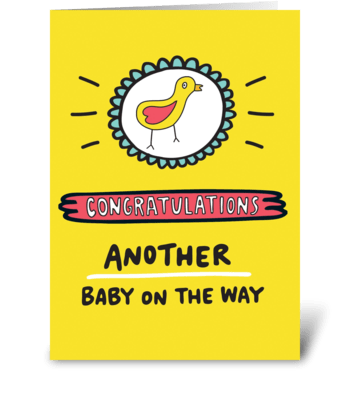 Another Baby On The Way greeting card