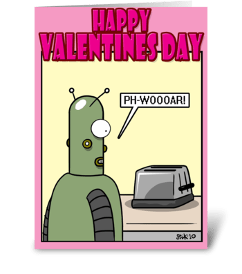 Gorgeous Toaster Valentines Day card greeting card