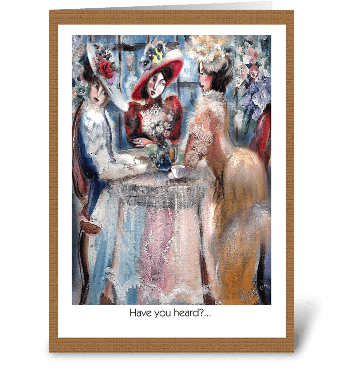 Ladies Gossip greeting card