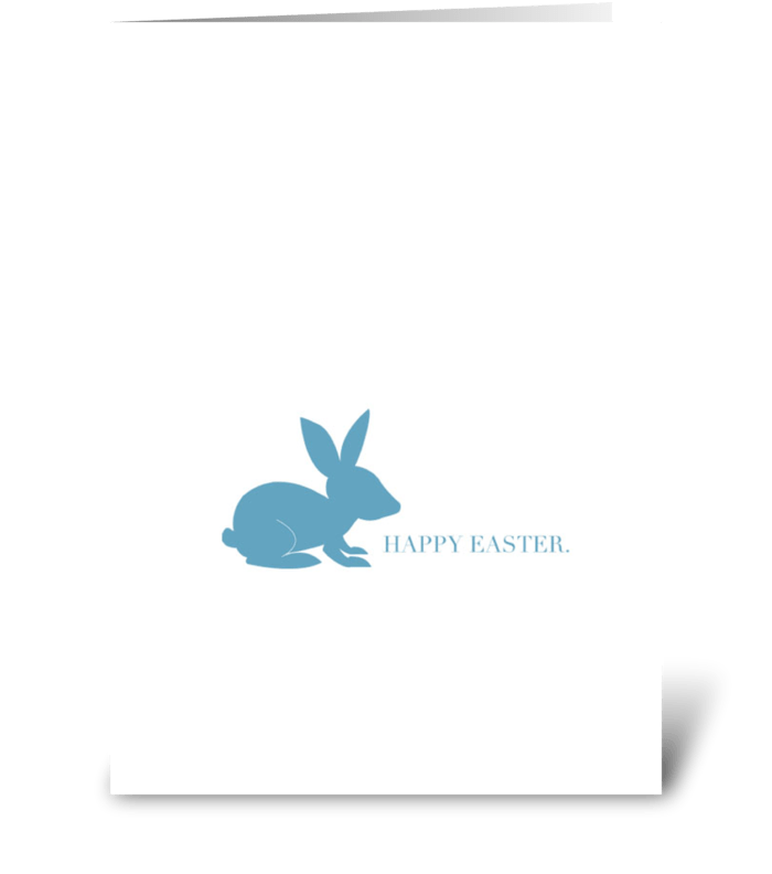 Blue Easter Rabbit greeting card