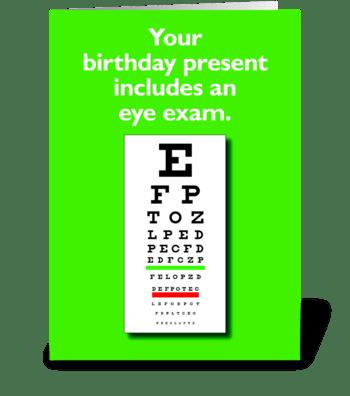 Eye Exam greeting card