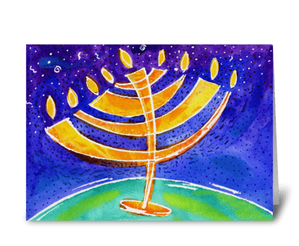 Hanukkah 2 greeting card