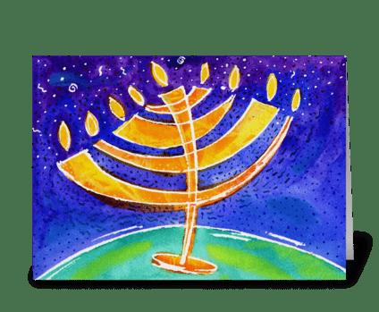 Hanukkah 2 greeting card