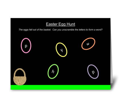 Easter Egg Hunt greeting card