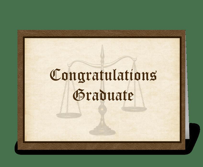 Law Graduate Congratulations greeting card