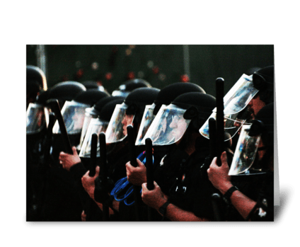 Riot Police greeting card