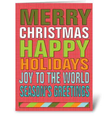 Wordy Holidays greeting card