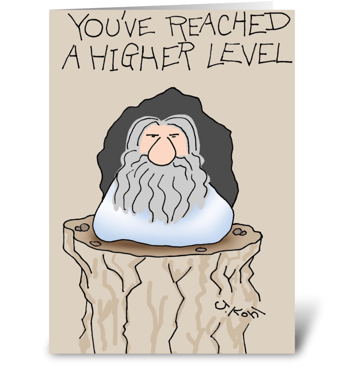 Higher Level greeting card