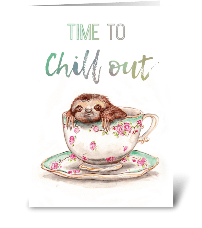 Time to Chill greeting card