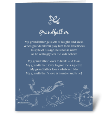 Poetry Grandfather greeting card