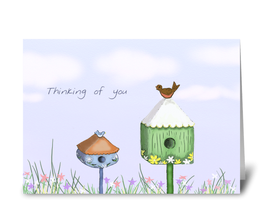 Birdhouse Thinking Of You Card greeting card