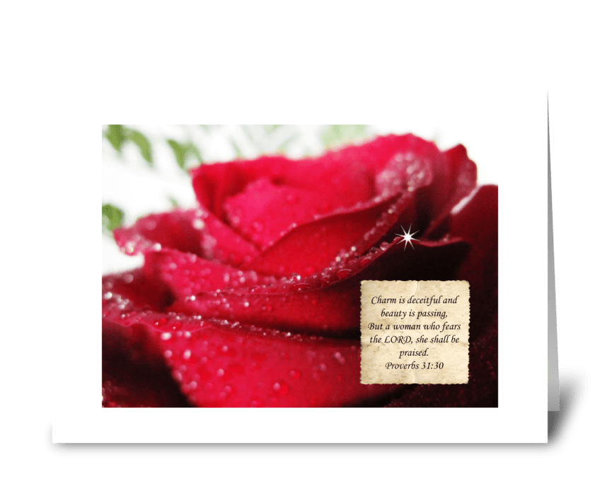 Charm and beauty greeting card