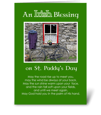 An Irish Blessing on St. Patrick's Day greeting card