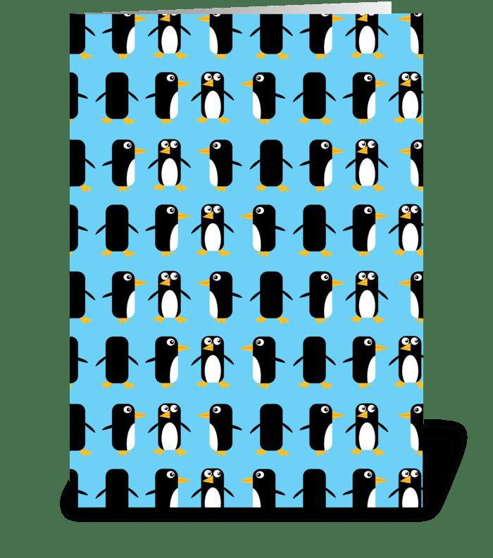 Viva Las Penguins! greeting card