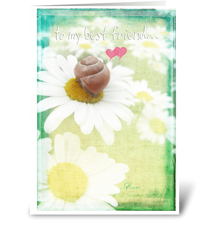 To my best friend greeting card