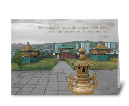 Buddhist Temple - Inspirational greeting card