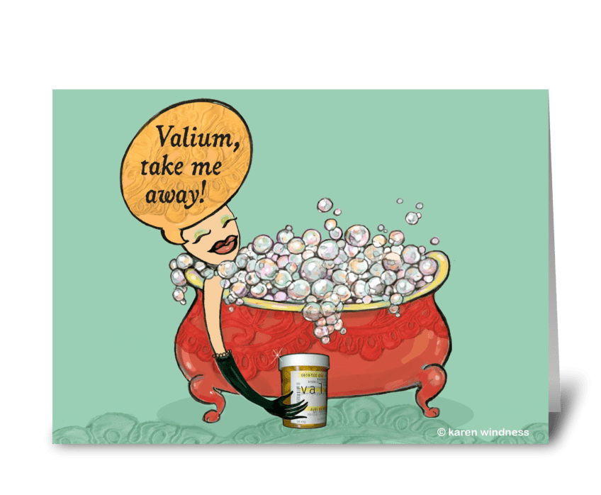 Valium greeting card