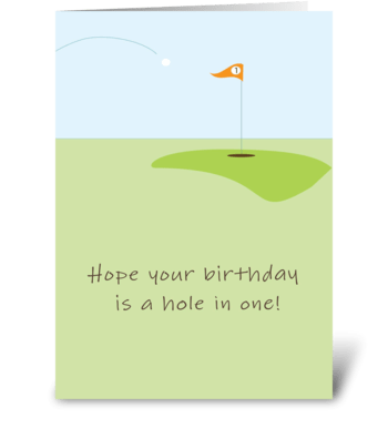 Golf Birthday greeting card