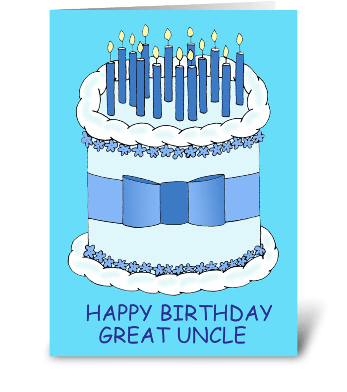 Great uncle happy birthday send this greeting card designed by great uncle happy birthday greeting card m4hsunfo