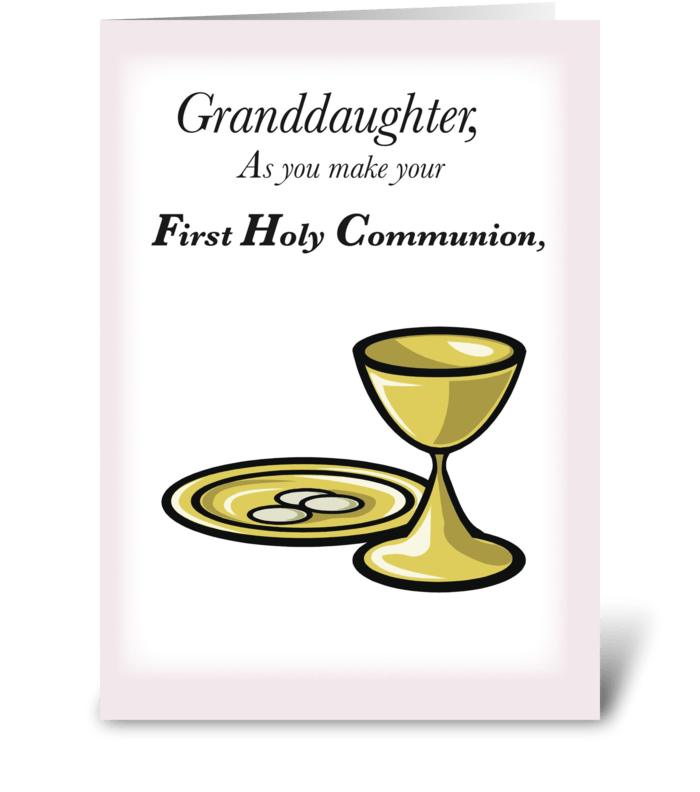Granddaughter first holy communion send this greeting card granddaughter first holy communion greeting card m4hsunfo