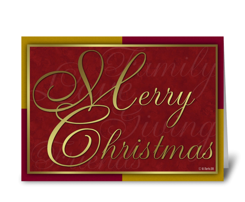 Golden Christmas Card greeting card