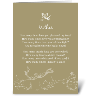 Poetry Mother greeting card