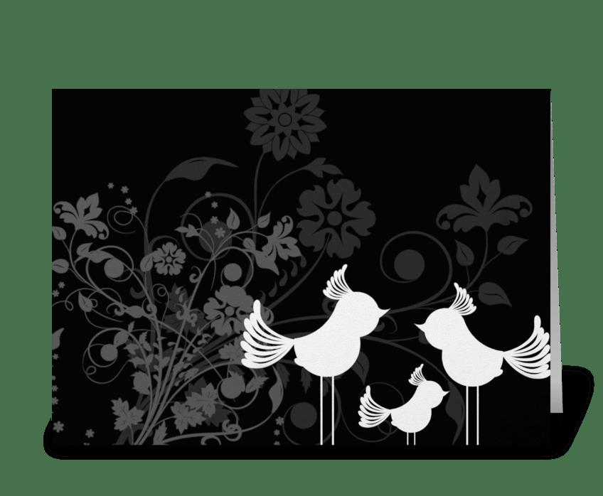 Elegant Birds greeting card