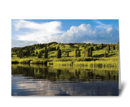 Seasons: Mid-Summer in the Mountains greeting card