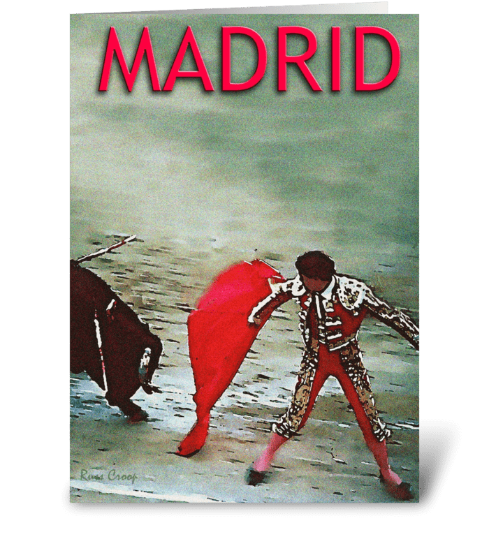 Madrid, Spain Travel Poster greeting card