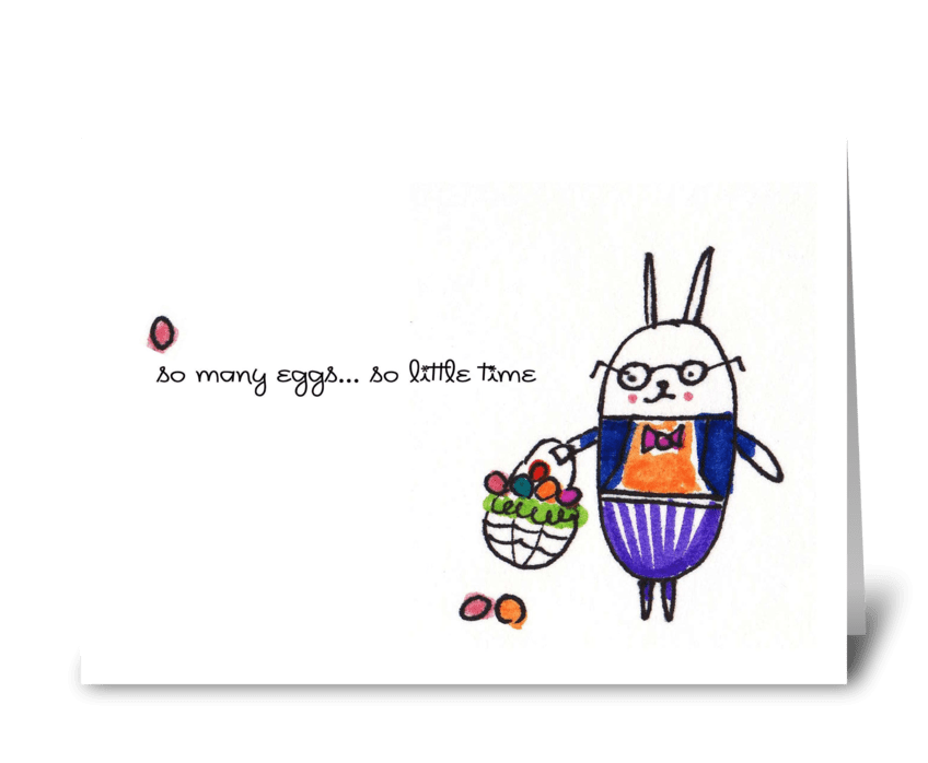 So Many Eggs! greeting card