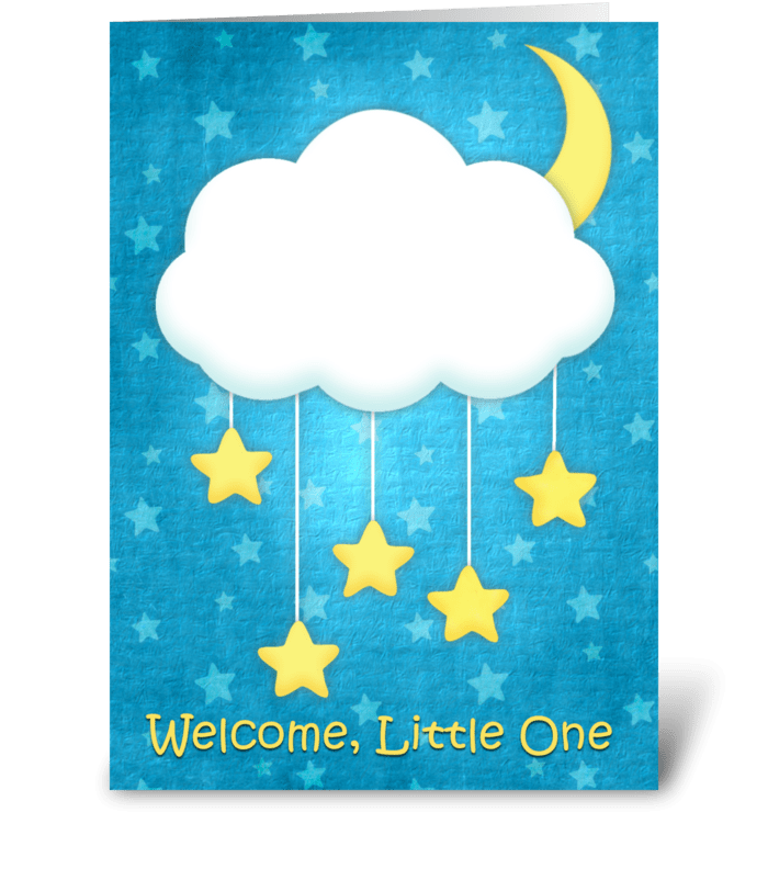 Cloud mobile welcome baby send this greeting card designed by out cloud mobile welcome baby greeting card m4hsunfo